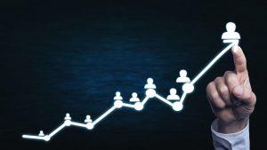 גרף צמיחה – ביטוח פנסיוני לשכירים ולעצמאים